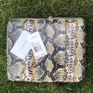 Lodis IPad tablet padded snake embossed case